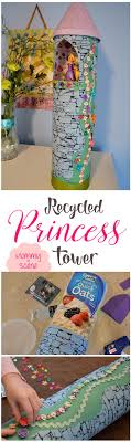 DIY Princess Tower from Recycled Containers