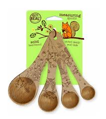 Decorative Measuring Spoons And Cups Talisman Designs 4pc Wooden Measuring Spoons Woodland Collection