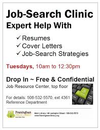 Job Search Assistance Services Framingham Public Library