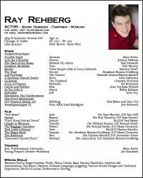 Actors Resume Template For Beginners Unique Acting Resume Sample For
