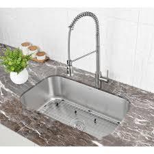 30 Inch Undermount 16 Gauge Stainless Steel Kitchen Sink Single Bowl
