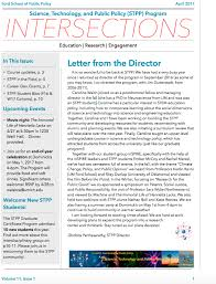 Newsletter Cover Letter Newsletters Science Technology And Public Policy