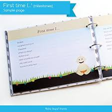 Baby Steps Book Journals New Baby First Year Memory Book For A