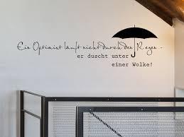 Wandtattoo Optimist Spruch Unter Wolken Duschen Wandtattoode