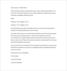 Examples Of Notification Letters 8 Resume Layout
