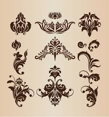 Design Decorative Amazing Retro Design Decorative Elements Vector Set Free Vector Graphics