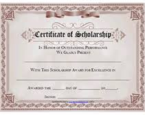 scholarship award certificate templates free printable certificate of scholarship awards blank templates