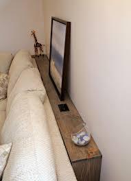 diy sofa table cerusing