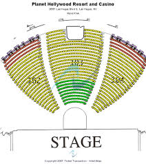 Zappos Theater Seating Chart View Zappos Theater At Planet Hollywood Tickets Seating Charts