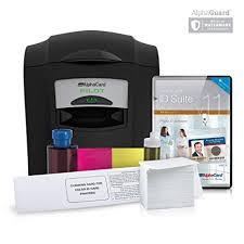 Amazon Id Alphacard Printer Complete Card com Bundle 4Rgw4qr