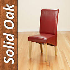 faux leather restaurant dining chairs. 4 faux leather pu dining chairs scroll back oak leg furniture kitchen restaurant
