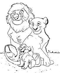 Lion Family Coloring Pages At Getdrawingscom Free For Personal