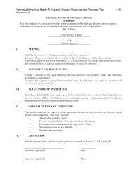 Business Mou Template For A Memorandum Of Understanding Sample