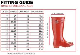 Hunter Shoe Size Chart Hunter Size Chart Hunter Boot South Africa