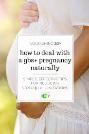 treating a gbs pregnancy naturally