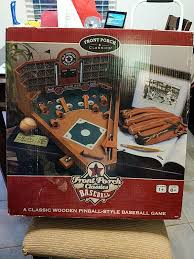 Wooden Baseball Game Toy Front porch Classics wooden pinball style baseball game Games 73