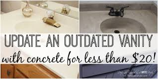 learn how to transform a cultured marble vanity with concrete on remodelaholic