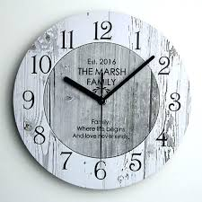 large rustic wooden wall clock vintage clocks extra decorative shabby chic kitchen new home ex