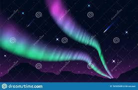 Northern And Southern Lights Aurora Polar Lights Northern Lights Or Southern Lights Is A
