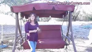 costco patio swing canopy and cushion replacement swing cushion covers