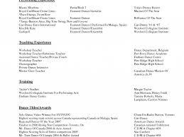 Endearing Dance Resume Pretty Resume Cv Cover Letter