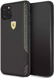 Ferrari iphone 11 pro silikon hülle mit innenfutter cover case schwarz original. Amazon Com Ferrari Phone Case For Iphone 11 Pro Max Pu Leather Hard Cover On Track Scuderia Italia Black Easy Snap On Drop Protection Officially Licensed