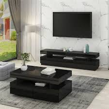 royal glossy glasgow tv stand with