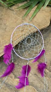 big dream catcher purple feathers large 9 inch native america style large