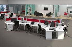 open space home office. Contemporary Office With Multiple Workstations For Open Space Plus Work Stations Home