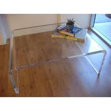 clear plastic coffee table