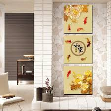 2018 modern painting art picture paint on canvas prints chinese characters peony plum fish landscape painting abstract famous aphorism from lovepainting