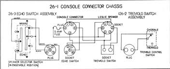 tech tips in the instructions the connector marked console connector is called the 5 pin connector the socket marked leslie speaker is called the 6 pin