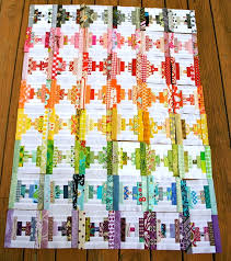 72 best Courthouse steps images on Pinterest | Eyes, Bag and ... & Courthouse Steps quilt in rainbow colors. Adamdwight.com