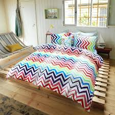 unique luxury bedding red blue and white bright colorful chevron stripe print unique luxury cotton full queen size bedding sets exterior home design styles