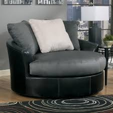 Oversized Swivel Chairs For Living Room Benchcraft Masoli Cobblestone Oversized Swivel Accent Chair
