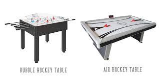 bubble hockey vs air hockey