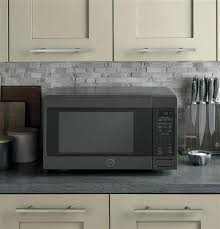 ge black countertop microwave oven jes1460dsbb cu ft with stainless steel