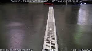 Commercial Kitchen Polyurea Floor Project YouTube - Commercial kitchen floor