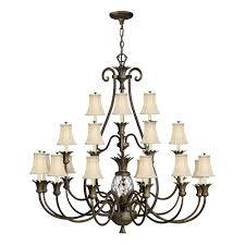 plantation 3 tier 21 light chandelier by hinkley lighting