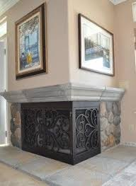 L-Shaped, Iron Fireplace Doors by AMS Fireplace - www.amsfireplace ...