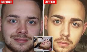 can a man pull off permanent eyebrows vlogger jake jamie ward gets tattooed daily mail