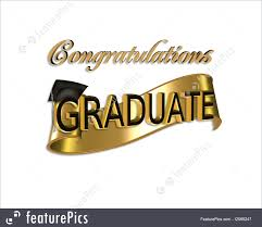 Congratulations For Graduation Templates Gold And Black Digital Art With 3d Gold Text For Graduation Greeting Card Or Background With Cap And Scroll