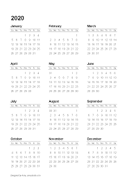 Sundays Only Calendar Free Printable Calendars And Planners 2020 2021 2022