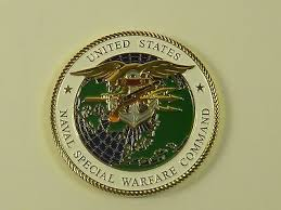 Naval Special Warfare Command Warcom Challenge Coin Navy