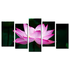 home decoration painting wall art contemporary lotus flower printed poster canvas wall pictures kids room decor on lotus flower canvas wall art with home decoration painting wall art contemporary lotus flower printed