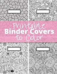 Coloring Page Binder Cover Printable Binder Covers To Color Free Download For Back To School