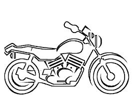 Moto Con Linee Semplici Disegno Da Colorare Per Bambini Disegni Da
