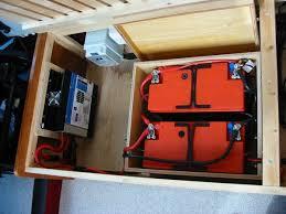 deep red a self build motorhome electrics caravan hook up wiring diagram general view of 12volt installation in bed box