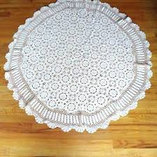 side tables bedside table cloth round bedside table cloths vintage granny round crochet tablecloth off