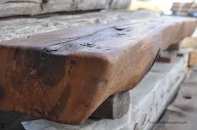 custom made 1830s rustic log cabin fireplace mantel